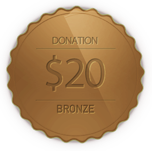 Bronze Donation 20 Doller