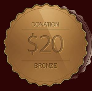 Bronze Donation 20 Doller