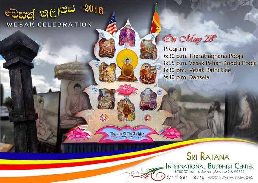 Vesak Celebrations at the Rathana International Buddhist Center