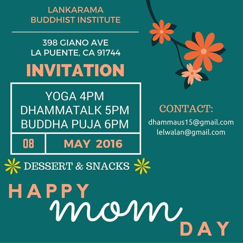 Mother's Day Dhamma Talk & Puja