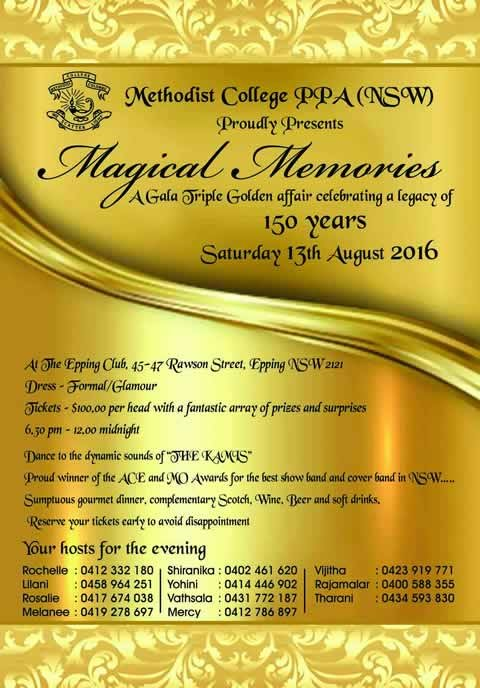 Methodist College PPA(NSW) proudly presents Magical Memories