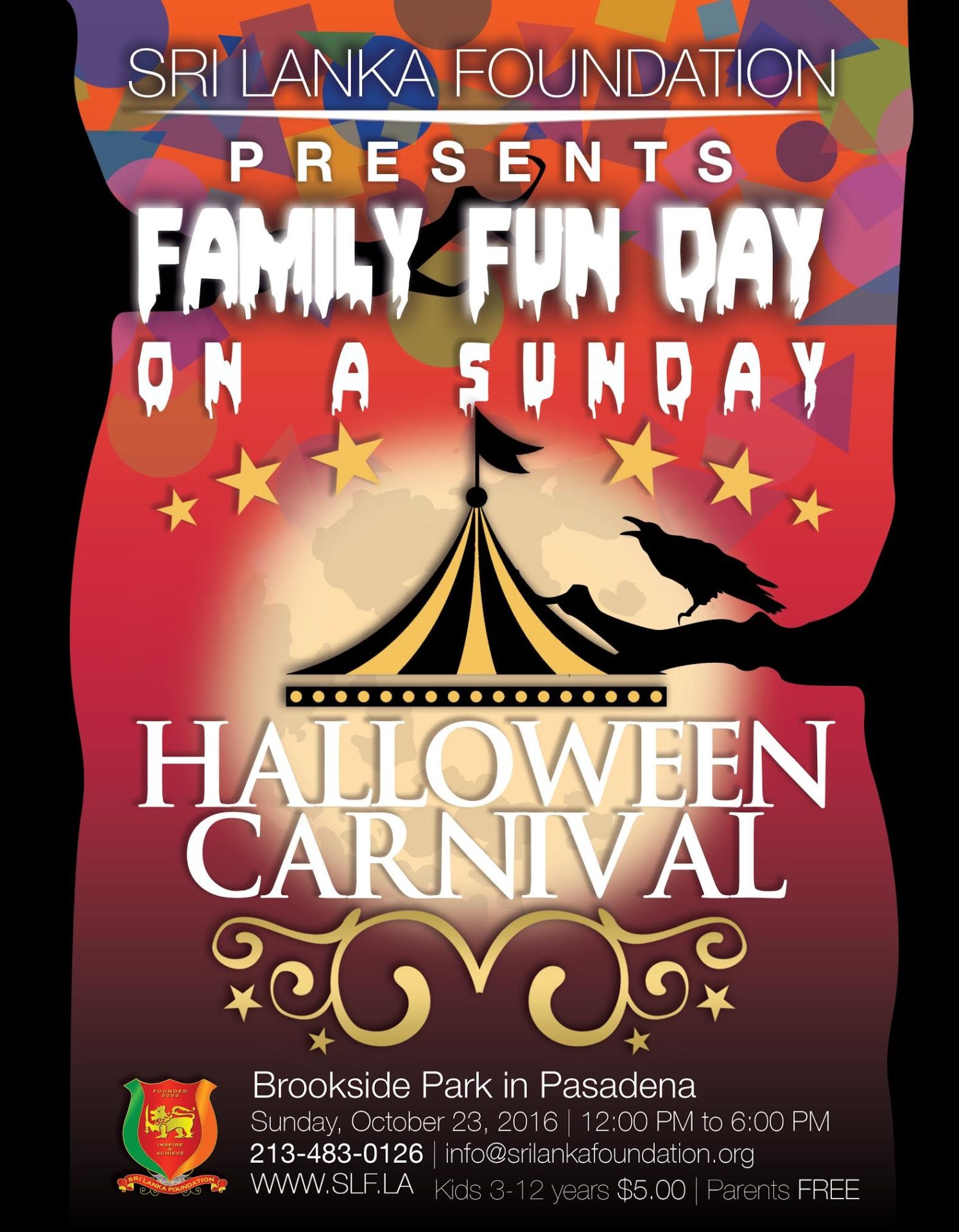slf family fun day on a sunday halloween carnival   srilanka foundation