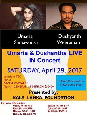 Umaria Sinhawansa & Dushyanth Weeraman live in concert