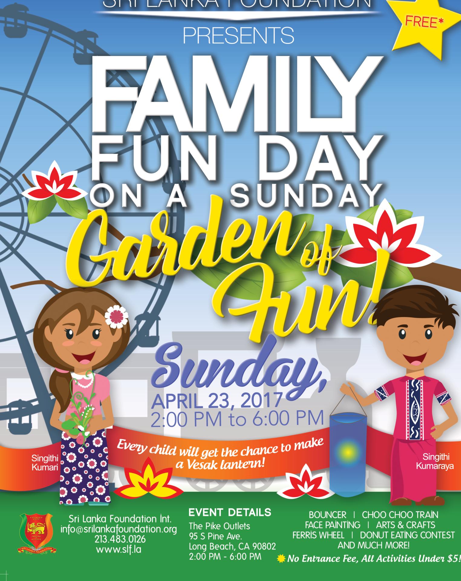 Family Fun Day on a Sunday Garden of Fun! Sathutu Uyana!
