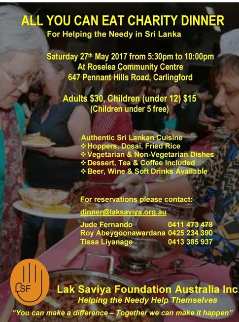 All You Can Eat Charity Dinner