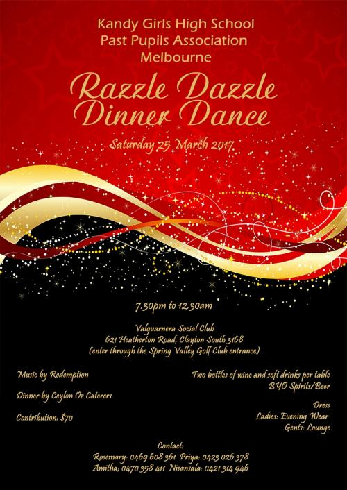 Annual Dinner Dance organized by the Past Pupils Association of Kandy Girls High School