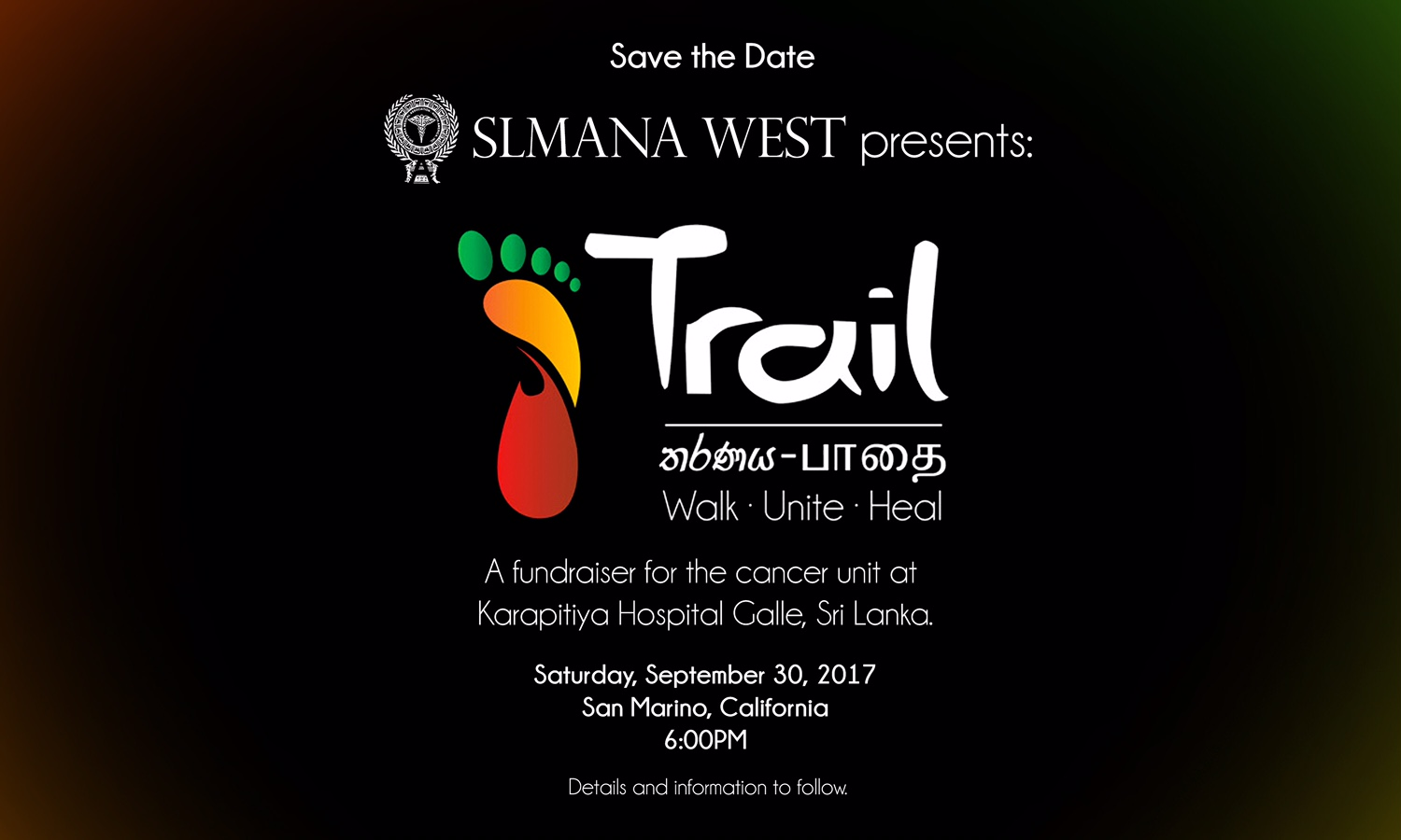 "SLMANA WEST PRESENTS: FUNDRAISER, ""Trail"""