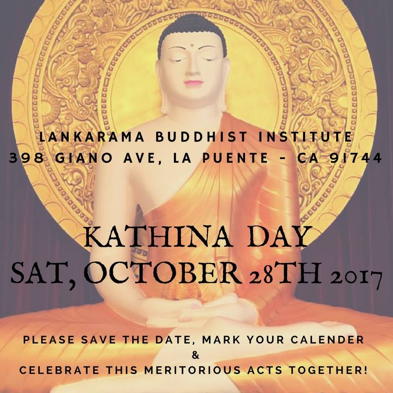Lankarama Buddhist Institute - Kathina Ceremony 2017