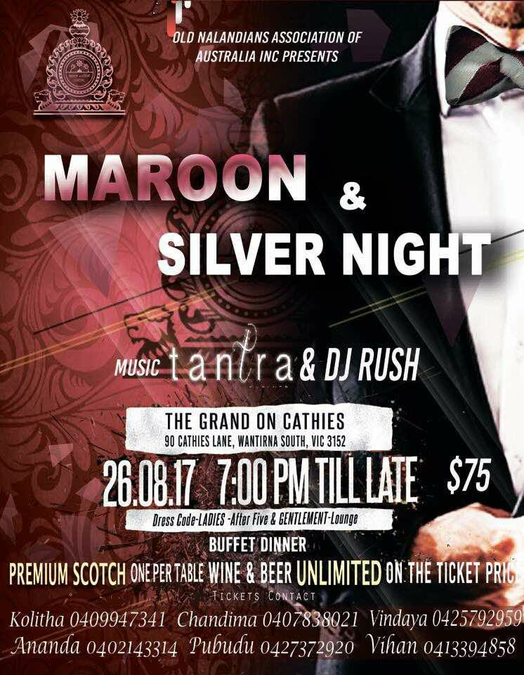 Maroon and Silver Night