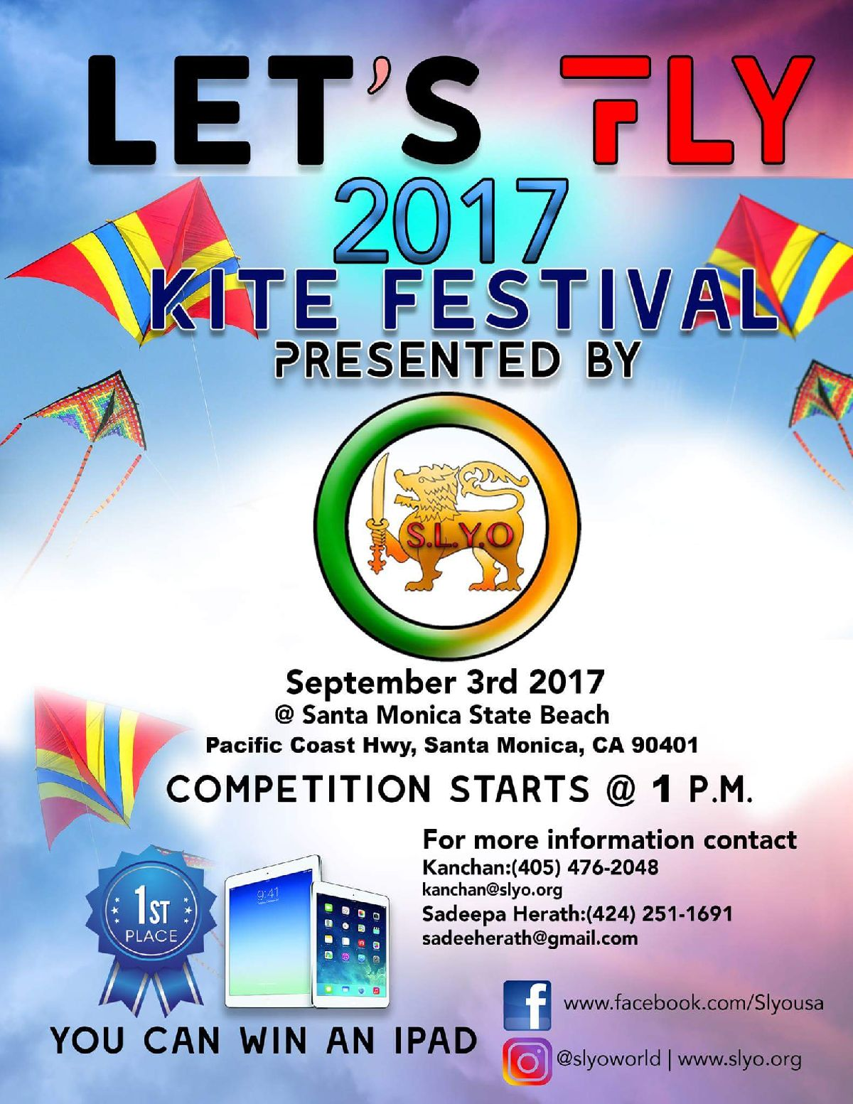 KITE FESTIVAL Presented by Sri Lanka Youth Organization in Los Angeles