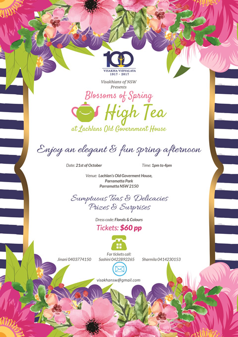 Blossoms of Spring High Tea