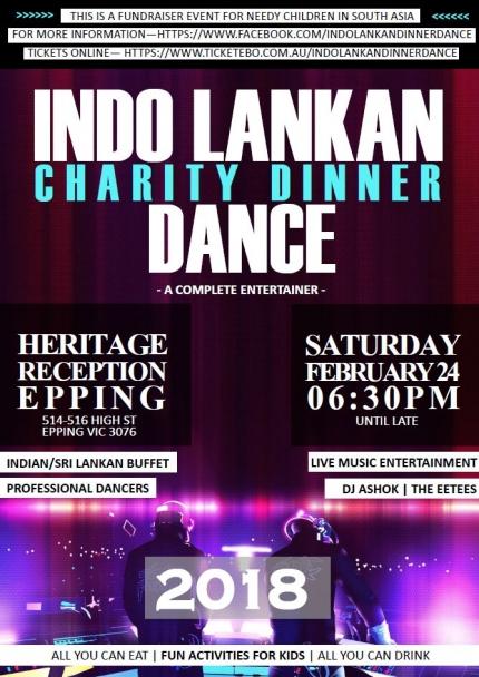 INDO LANKAN Charity Dinner Dance
