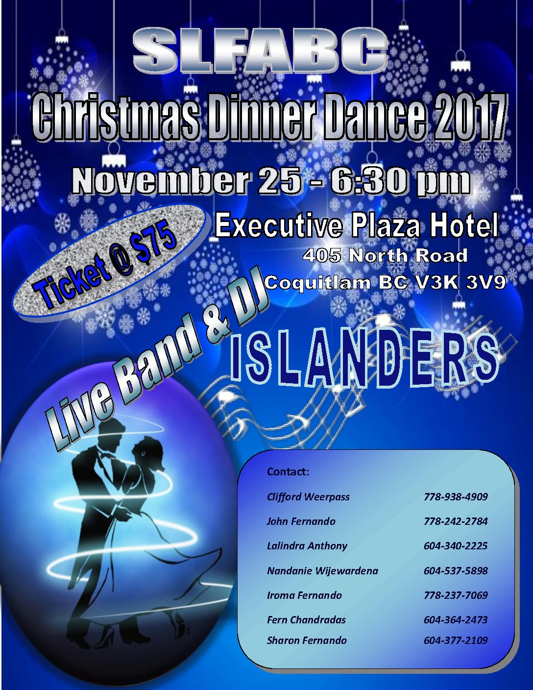 "SLFABC Presents ""Christmas Dinner Dance 2017"""