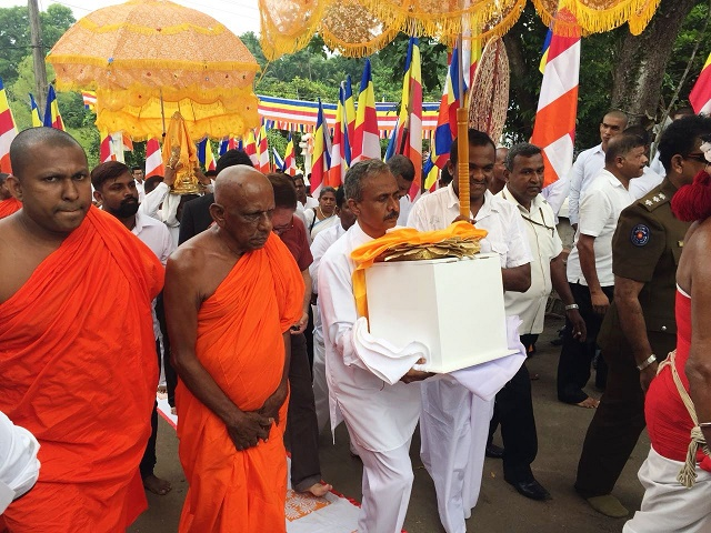 Most Sacred Relics of Lord Buddha arrived at Kalutara District for Public exposition