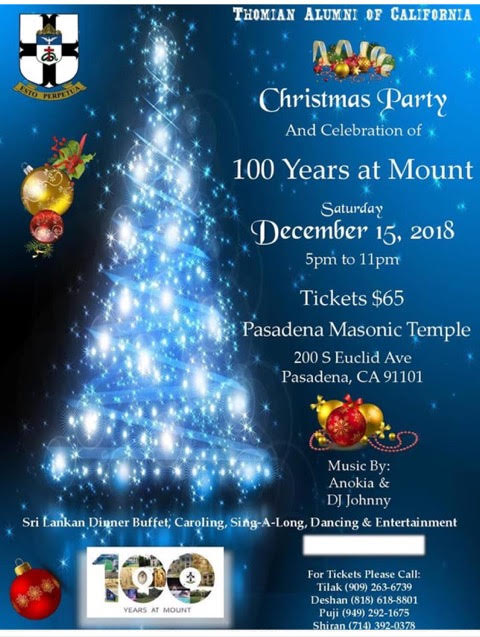 Christmas Party and celebration of 100 years at Mount