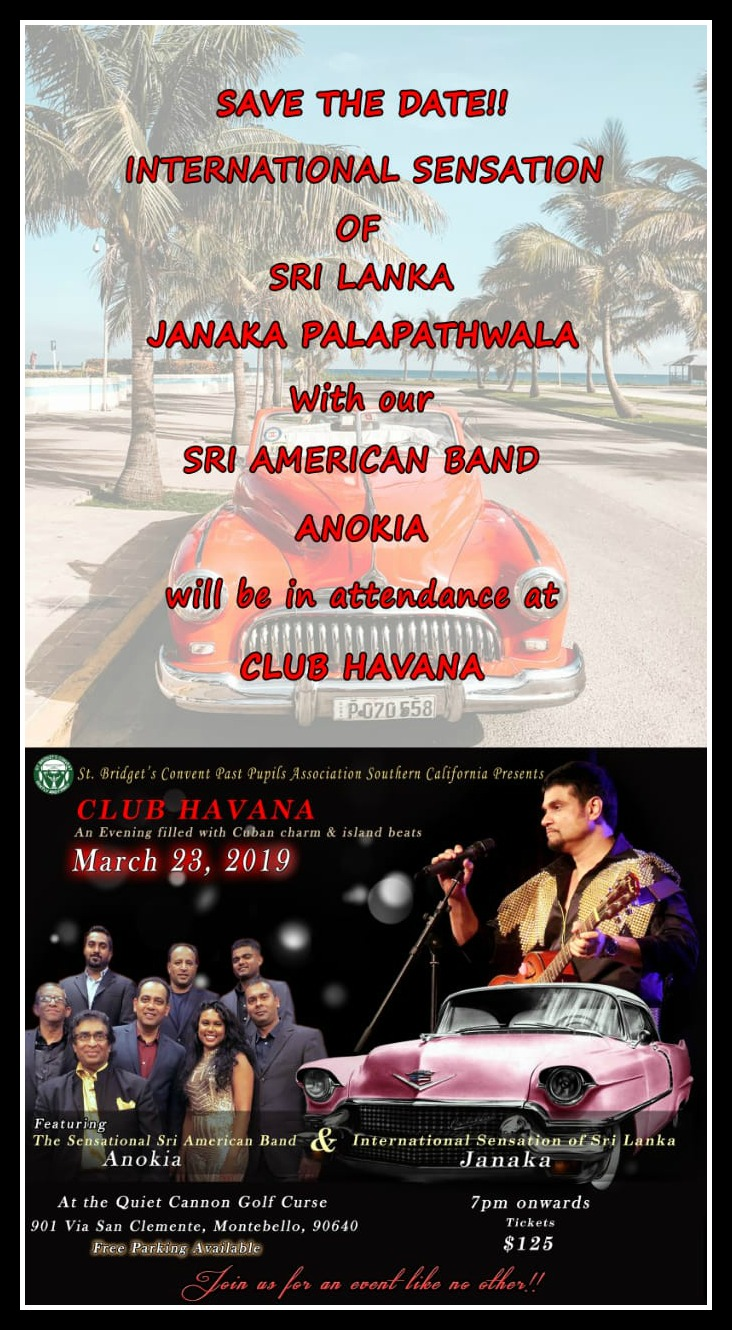 """CLUB HAVANA"" Dinner Dance presented by St Bridget's Convent PPA"