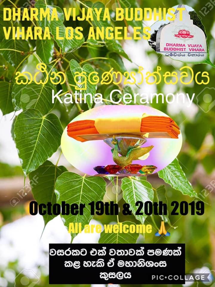 Katina Ceremony - Dharma Vijaya Buddhiist Vihara