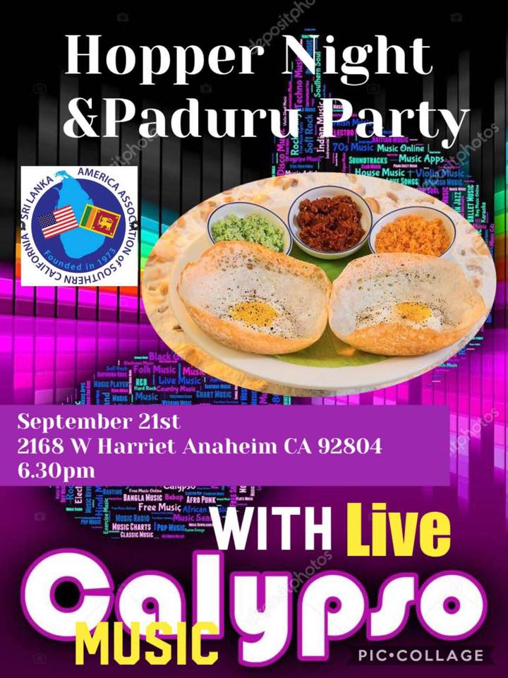 Hopper Night & Paduru Party With Live Calypso