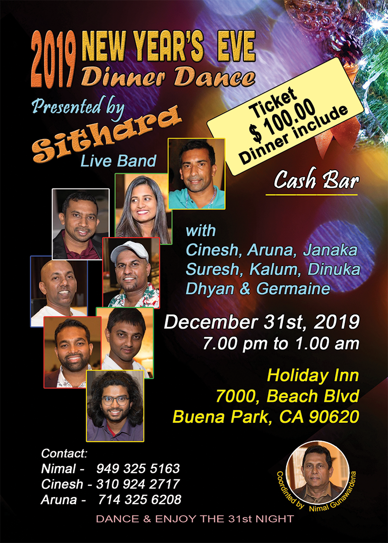 2019 New Year's Eve Dinner Dance