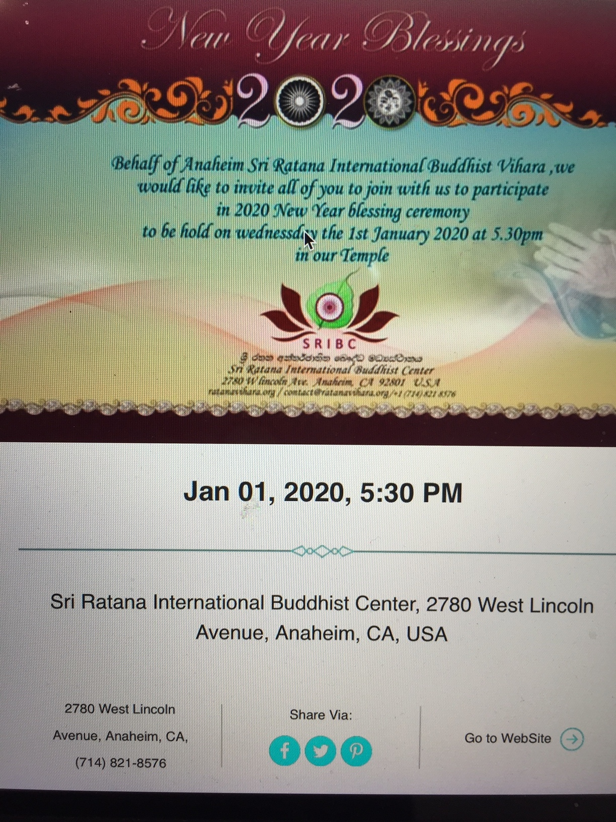 2020 New Year Blessing Ceremony