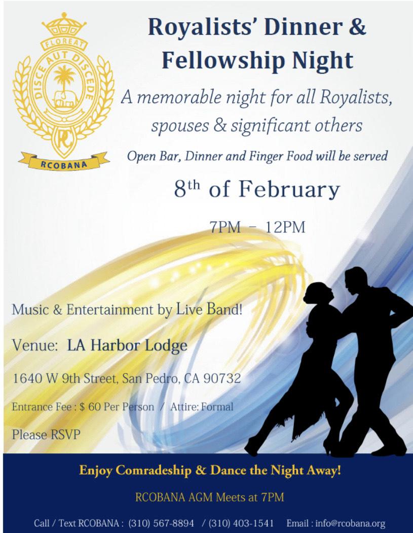Royalists' Dinner & Fellowship Night