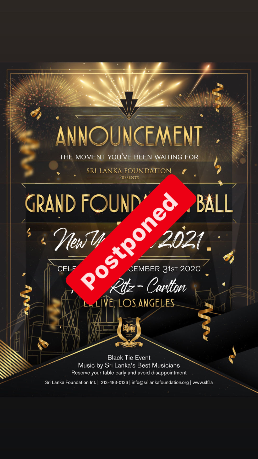 31ST NIGHT NEW YEAR'S EVE | GRAND FOUNDATION BALL