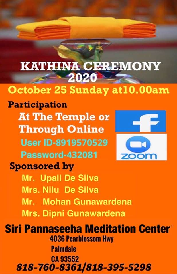 Kathina Ceremony 2020