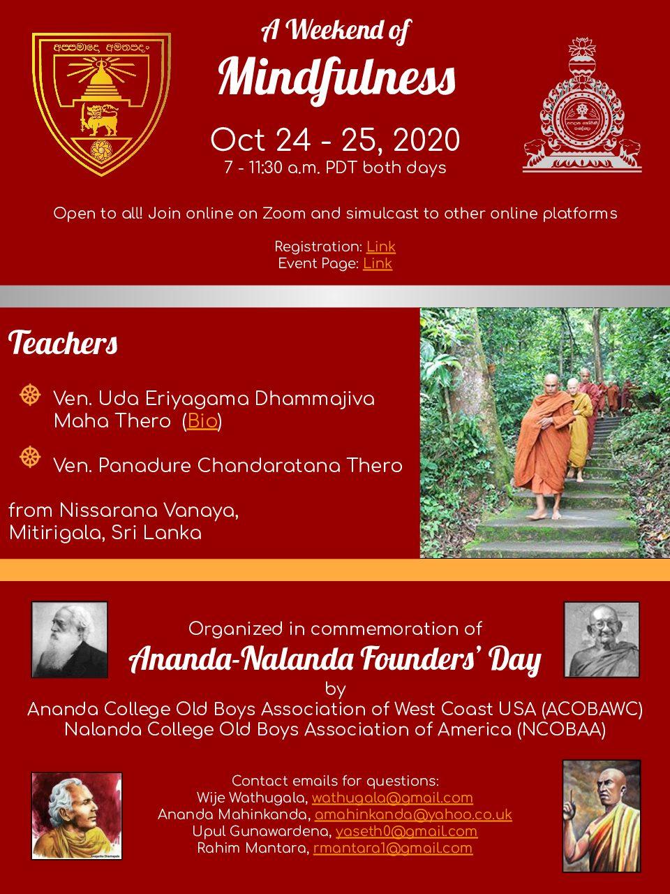 Ananda_Nalanda_FoundersDay MeditationRetreate_2020