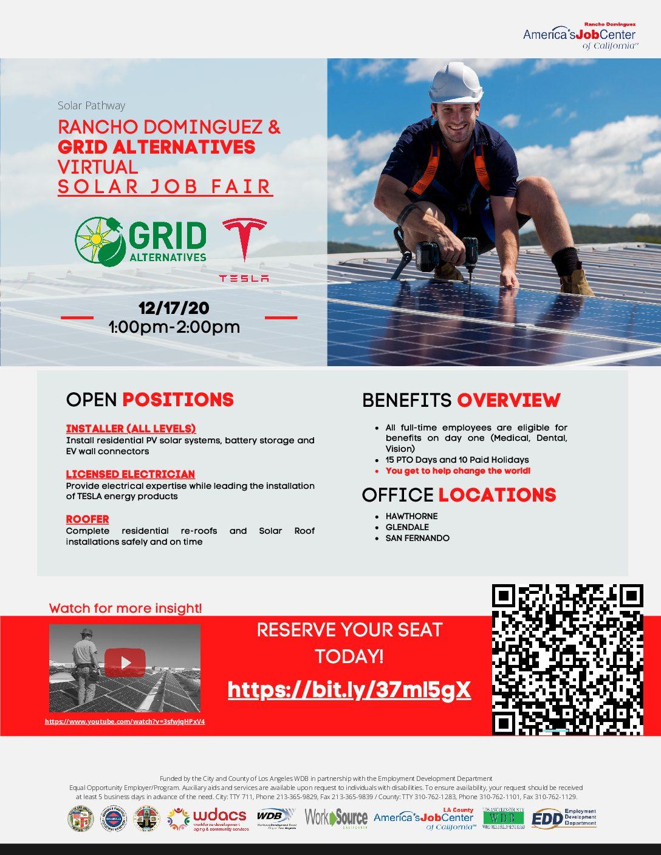 RDAJCC GRID Alt Solar Job Fair
